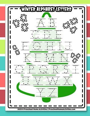 winter alphabet letters worksheet download