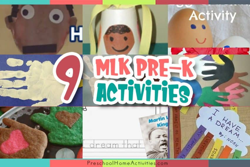 Martin Luther King Jr Preschool Activities