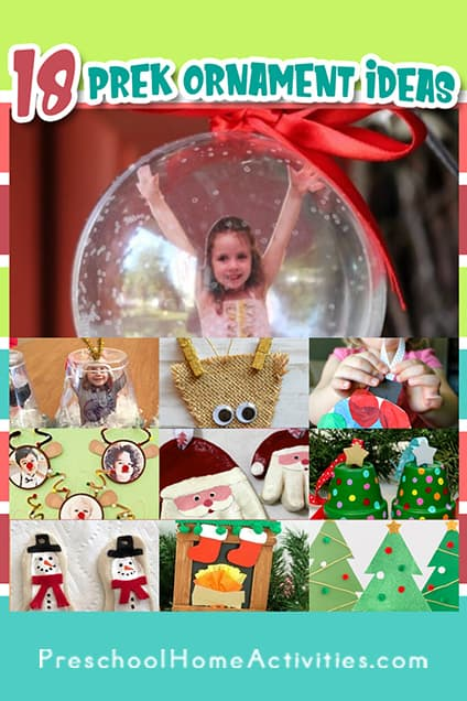 Preschool Christmas Ornament Craft Ideas Pin