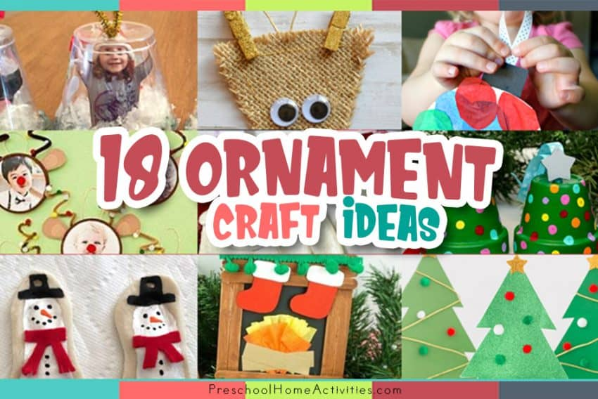 Preschool Christmas Ornament Craft Ideas