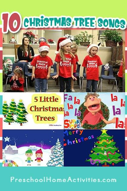 Preschool Christmas tree songs Pinterest