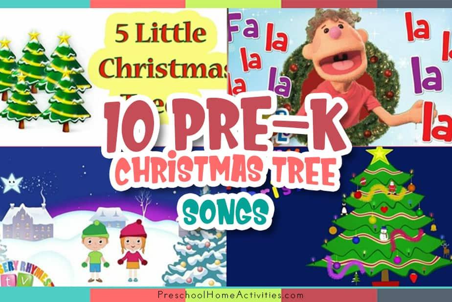 Preschool Christmas tree songs featured_image