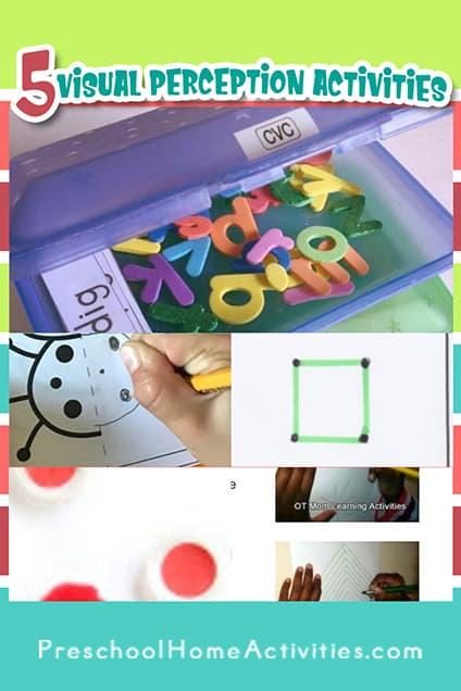 Preschool Visual Perception Activities Pin