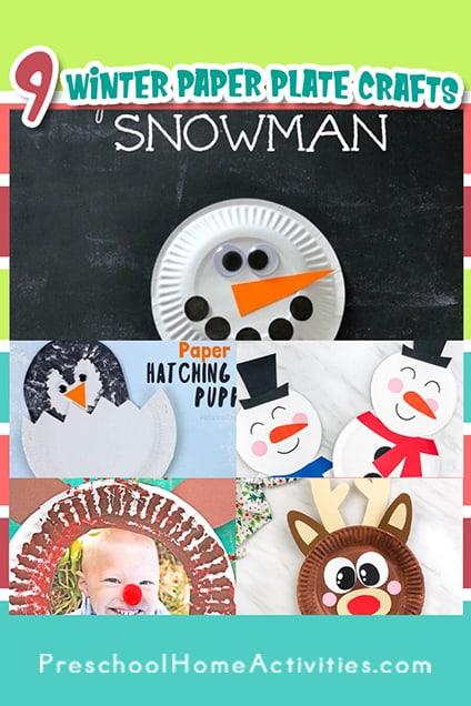 Preschool Winter Paper Plate Crafts Pinterest
