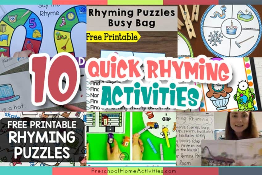 Quick Rhyming Activities
