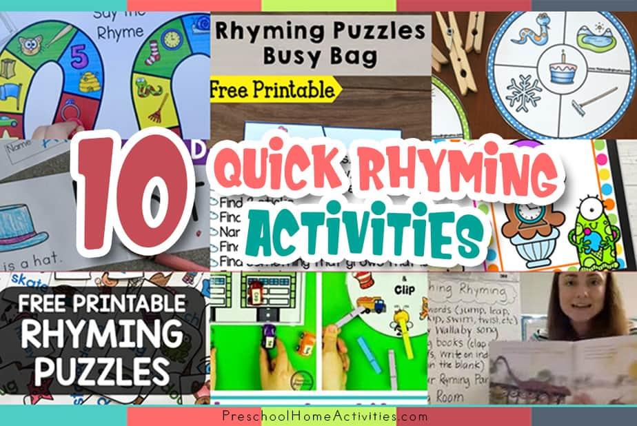 Quick Rhyming Activities