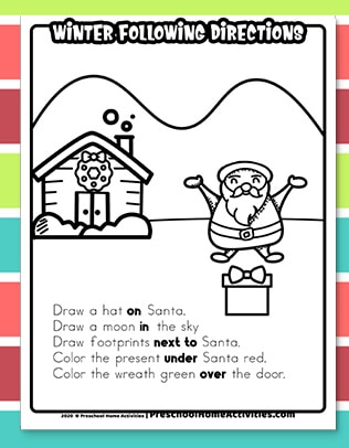 winter Following Directions Worksheet download